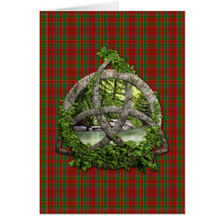 Celtic Trinity Knot And Clan Munro Tartan Card