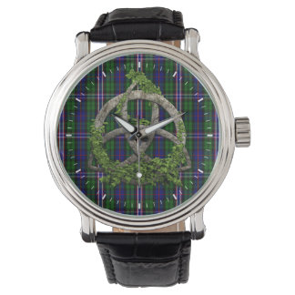 Celtic Trinity Knot And Scottish National Tartan Wristwatches