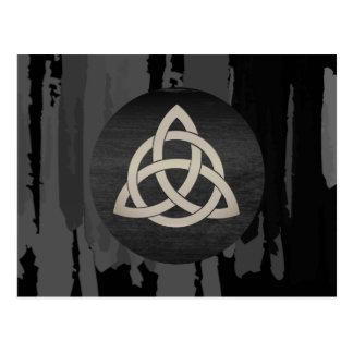 Celtic Trinity Knot Black  Watercolor Postcard