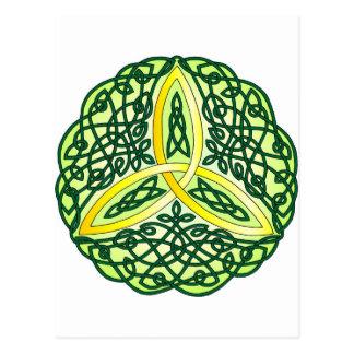 Celtic Trinity Knot Green Postcard