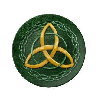 Celtic Trinity Knot Porcelain Plates