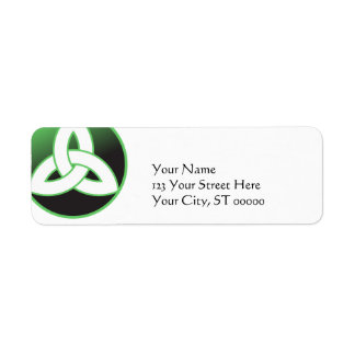 Celtic Trinity Knot Return Address Label