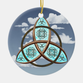 Celtic Trinity Knot Round Ceramic Ornament
