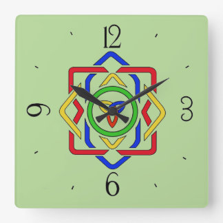 Celtic Trinity Knot Square Wall Clock