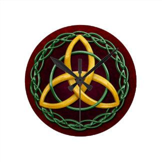 Celtic Trinity Knot Wall Clocks