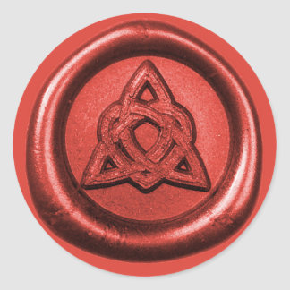 Celtic Trinity Knot with Heart Wax Seal Sticker