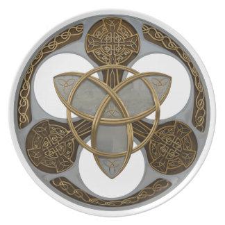 Celtic Trinity Shield Party Plates