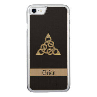 Celtic Triple Eight Knot Wood Carved iPhone 8/7 Case