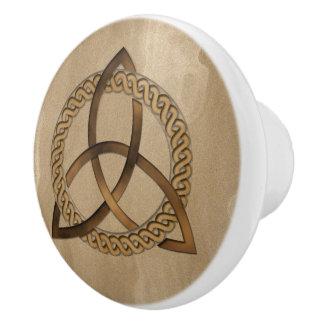 Celtic Triquetra Trinity Knot Ceramic Knob