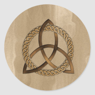 Celtic Triquetra Trinity Knot Classic Round Sticker