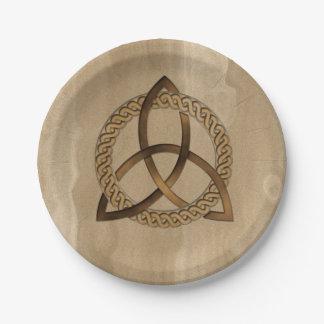 Celtic Triquetra Trinity Knot Paper Plates