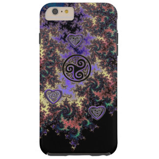 Celtic Triskele Fractal Heart Knots iPhone Case