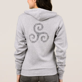 Celtic Triskele Love, Loyalty, Friendship 2-sided Hoodie