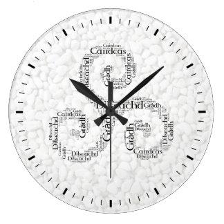 Celtic Triskele Love, Loyalty, Friendship Wall Clocks