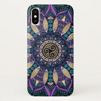 Celtic Triskele Mandala iPhone X Case