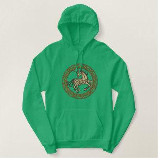 Celtic Unicorn Embroidered Hoodie