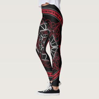 Celtic Vampire Bat Mandala Leggings