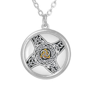 celtic-warriors symbol silver plated necklace