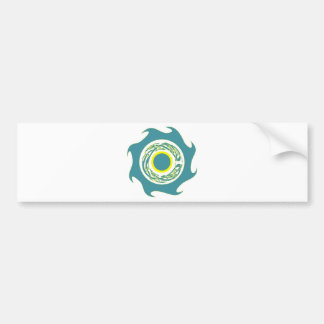 Celtic Wave Band Aqua Yellow Bumper Sticker