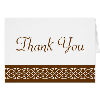 Celtic Weave Hearts in Chocolate Thank You Card