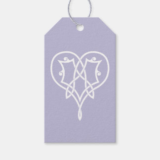 Celtic Weave Hearts in Lavender Gift Tag Pack Of Gift Tags