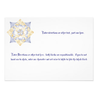 Celtic Wedding Knot Blank Enclosure Card Invites