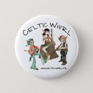 Celtic Whirl swipes in 2 Inch Round Button