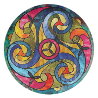 Celtic Winds Party Plate