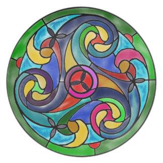 Celtic Winds Watercolor Design Dinner Plates