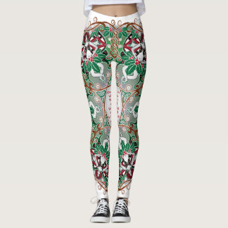 Celtic Winter Fairy Mandala Leggings