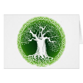 Celtic Wisdom Tree Card