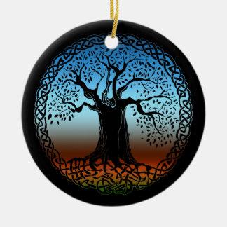 Celtic Wisdom Tree (Earth Version) Ceramic Ornament