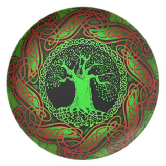 Celtic Wisdom Tree Plate