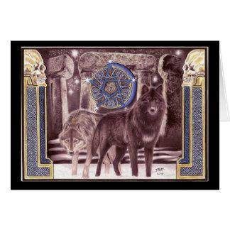 Celtic Wolf Magic Greeting Card