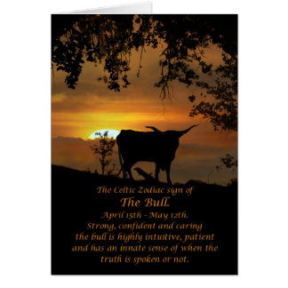 Celtic Zodiac Sign of the Bull Card
