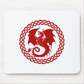 celticCircleRedDragon Mouse Pad