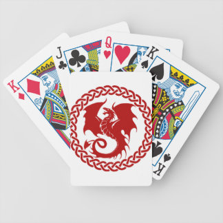 celticCircleRedDragon Poker Deck