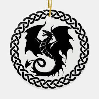 CelticCircleTransparency Round Ceramic Ornament