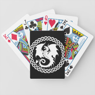CelticCircleWhiteDragon Poker Deck
