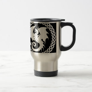 CelticCircleWhiteDragon Travel Mug