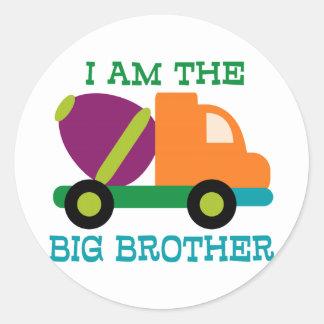 Cement Mixer Big Brother Round Sticker