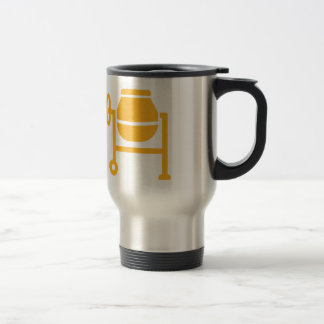 Cement mixer travel mug