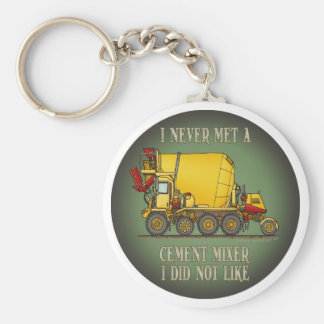 Cement Mixer Truck Operator Quote Key Chain