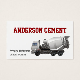 Cement Truck Business Card