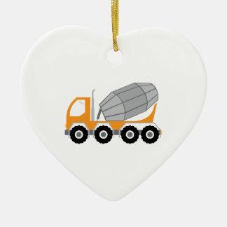 Cement Truck Ceramic Ornament