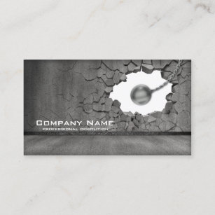 Demolition business cards profile cards zazzle ca cement wall demolition works business card colourmoves