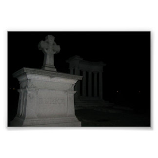 Cemetary at night Poster