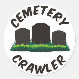 Cemetery Crawler Classic Round Sticker
