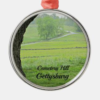 Cemetery Hill, Gettysburg Silver-Colored Round Ornament
