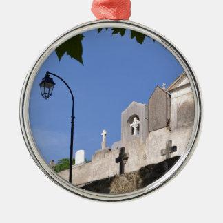 Cemetery in Menton Silver-Colored Round Ornament